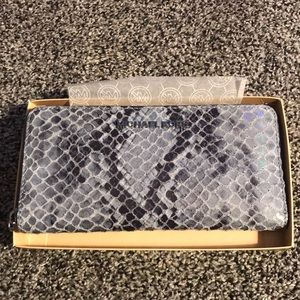 Micheal Kors Denim Python Wallet